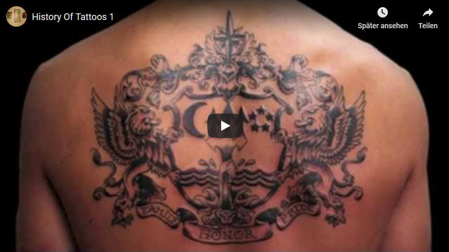 Youtube-Video History Of Tattoos 1