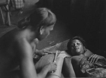 Tätowierung eines Dajak, West-Borneo, 1927