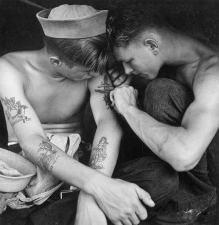 Matrose an Bord der USS New Jersey, 1944.